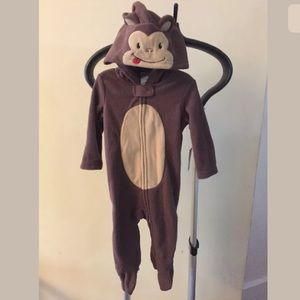 Newborn Baby Monkey Onesie Costume Halloween